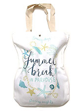 Bag140 Summer Break Paradise Eco Bag/White