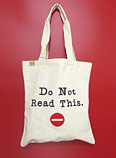 Bag143 Do Not Read This Eco Bag/Natural