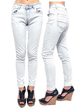 Denim039 H&G Washed Skinny Denim/Light Denim