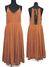 Dress121 Gathered Dress with Open Back/Amber