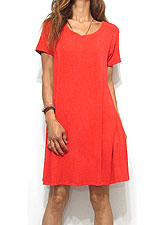 Dress136 Heavy-Weight Jersey T Dress/Red