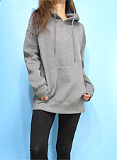 Outer084 Basic Oversized Hoody/Heather Grey