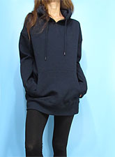Outer082 Basic Oversized Hoody/Navy