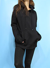 Outer086 Basic Oversized Hoody/Black