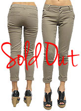 Pants105 Cotton Stretch Skinny Pants/Khaki
