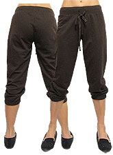 Pants108 Capri Sweat Pants/Brown