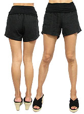 Pants137 Linen Short Pants/ Black