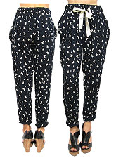 Pants148 Easy Pants in Cross Motif/Black