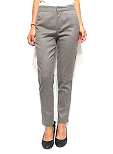 Pants154 Checkered Twill Sleek Pants/Grey
