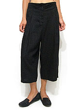 Pants181 Wide Quarter Pants/ Black