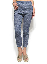 Pants216 Comfy Relaxed Crop Pants/Blue