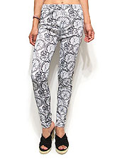 Pants220 Ornament Print Leggings/Black