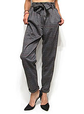 Pants228 Plaid Easy Tapered Pants/Dark Grey