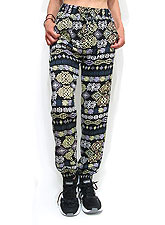 Pants237 Cotton Drawstring Joggers/Tribal Black