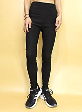 Pants244 High-Waist Sleek Leggings/Black