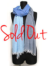 Scarf114 Triple Tone Scarf/ Blue Mix