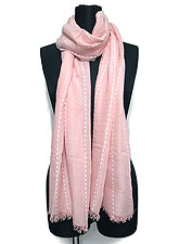 Scarf129 Soft Feel Maxi Stole with Stitches/Dusty Pink