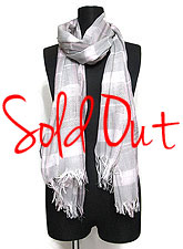 Scarf133 Block Plaid Maxi Stole/ Pink & Grey Mix