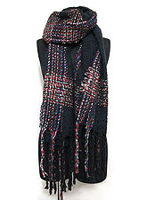 Scarf140 Multi Color Interwoven Stole/Navy
