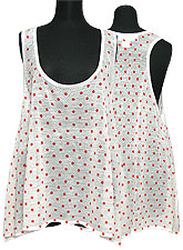 Tops330 Polka Dot Knitted Tank Top/Orange Dot