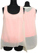 Tops508 Double Layer Chiffon Tank Top/Nude