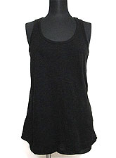 Tops621 Basic Biker-Back Tank Top/Black
