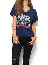 Tops717 Cali Bear Oversized T-Shirt/Navy