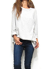 Tops721 Oversized Sweat Top/ Heather Grey