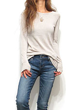 Tops730 Basic Raglan L/S T-Shirt/Oatmeal