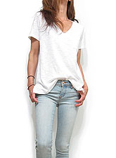 Tops741 Relax Slub T with Pocket/Off White
