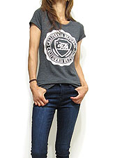 Tops761 California Republic Logo T/Charcoal