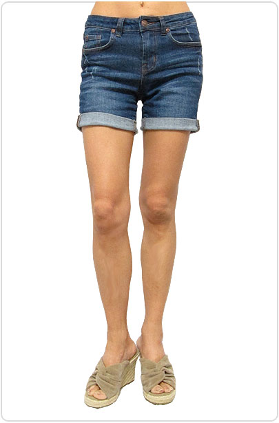 Denim043 Roll-Up Denim Shorts/Denim