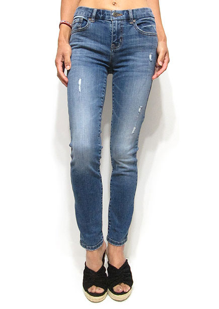 Denim061 Skinny Ankle Denim/Washed Denim