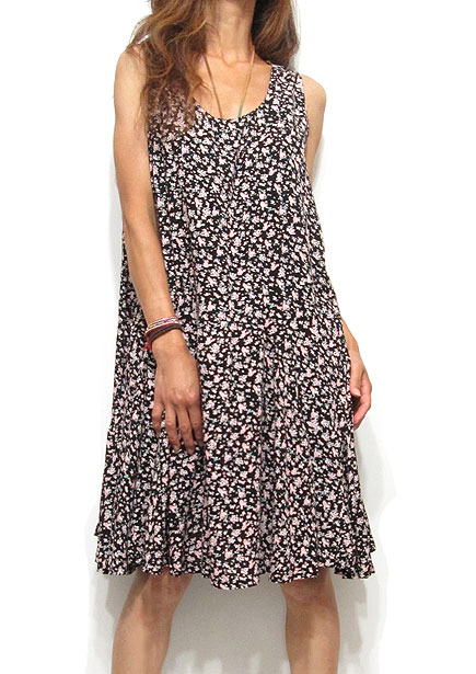 Dress134 Floral Summer Dress/Black