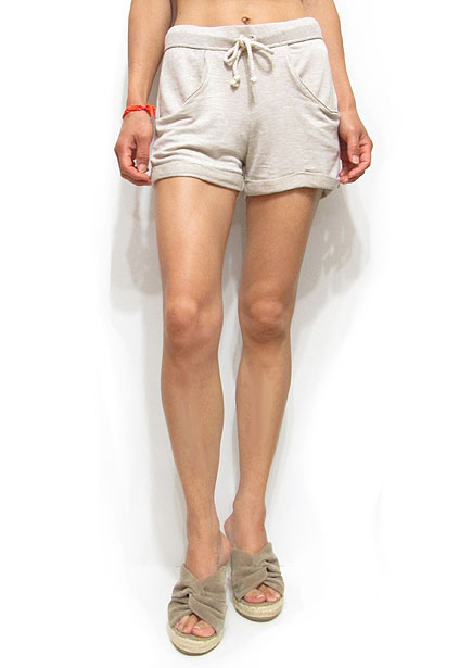 Pants170 Roll-Up Lousy Short Pants/Taupe