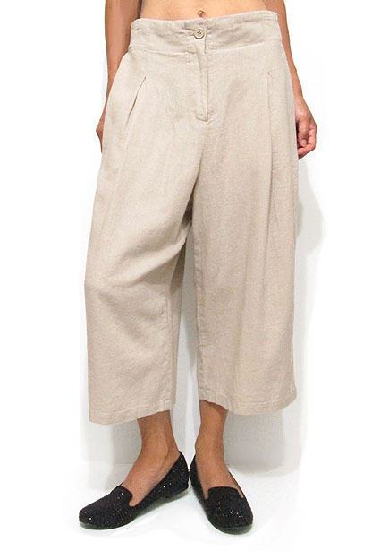 Pants180 Wide Quarter Pants/Taupe