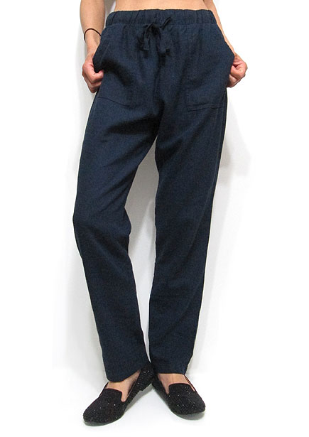 Pants189 Drawstring Tapered Pants/Navy