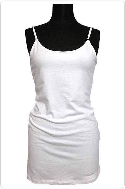 Tops556 Basic Adjustable Cami/White
