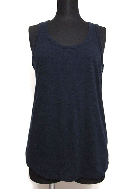 Tops618 Basic Biker-Back Tank Top/Navy